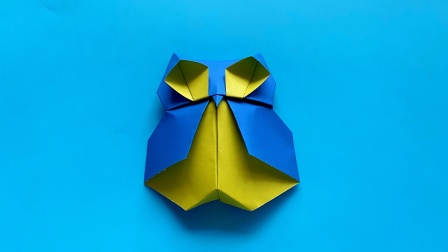 教你折纸简单猫头鹰,简单易学,生动形象