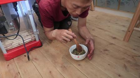闪电素食:野菜油条,炖土豆小米粥