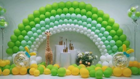 春天气球派对怎么配色?这款彩虹很应景哈