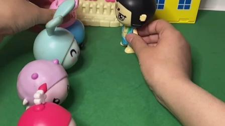 趣味玩具:猪爸爸买汉堡,让葫芦娃排在自己的前面!