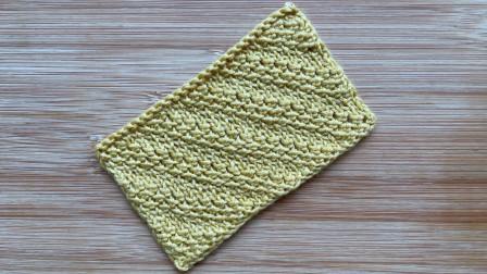 棒针斜纹花样,立体有层次,织法简单新颖,织外套比较大方