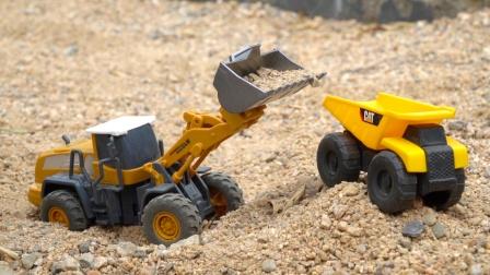 推土机、挖掘机、翻斗车、合金工程车,儿童益智汽车玩具模型试玩