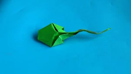 教你折纸蝌蚪手指木偶,简单好玩易学,生动形象