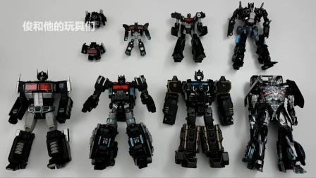 黑色擎天柱 载具机器人玩具 变形金刚.
