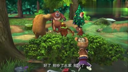 熊出没:光头强刚要离开, 却看到树上的琥珀, 这下发财了