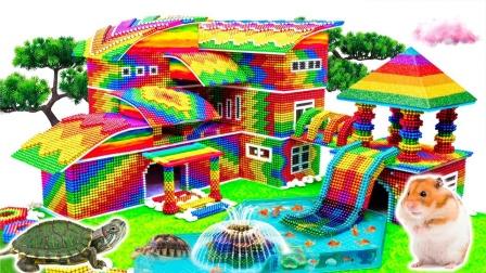 建设巴克球校园和观光塔玩具