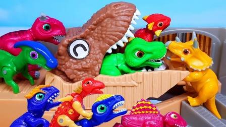 可爱小恐龙来到侏罗纪火山乐园