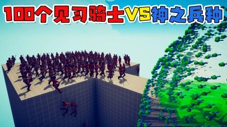 全面战争模拟器:一百个见习骑士VS所有【神之兵种】!