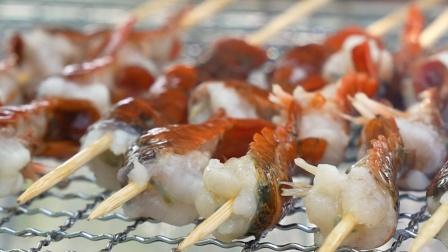 悠闲的一天从小池边吃小龙虾烤串开始