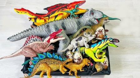 彩色合成侏罗纪恐龙模型玩具