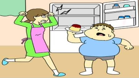 趣味小游戏 为了阻止我吃饭妈妈把冰箱锁起来了
