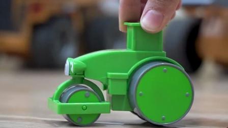 巴布工程师玩具车:压路机,铲车,推土机,起重机,工程汽车玩具