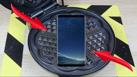 将手机放在华夫饼机上会怎样?老外作死测试  ,结果玩大了!