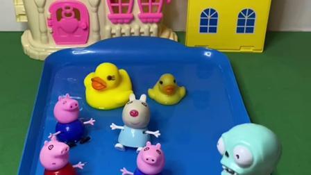 趣味玩具:不好了,僵尸也下水游泳了