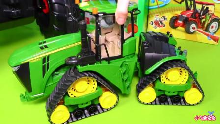 儿童拖拉机惊喜玩具:打造动物的农场乐园,卡车和玩具车为孩子们玩!