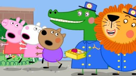 小猪佩奇和乔治遇见什么小动物?为何跑了?奥特曼能帮大忙吗?
