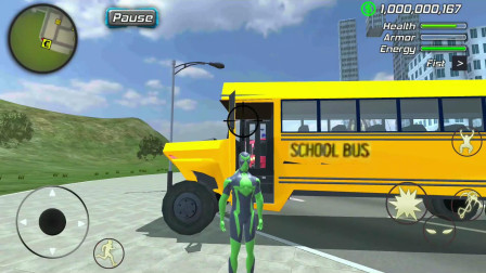 青蛙绳索英雄:化身为校车司机,开始接送学生!