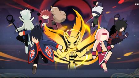 【蓝月试玩】火柴忍者:火影格斗 试毒【斑爷进化!来起舞吧】