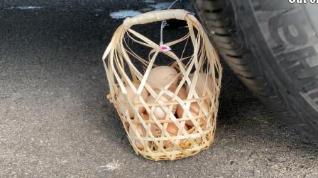 把牙膏、鸡蛋、魔方放在车轮下碾压,勿模仿