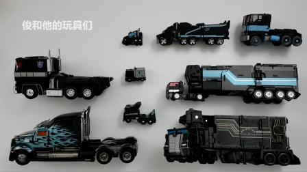 变形金刚黑色擎天柱 克星 主要的 载具机器人汽车玩具变形金刚.