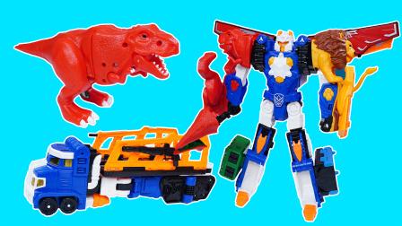 咖宝车神巨兽时代:时间巨人三合一变形合体玩具