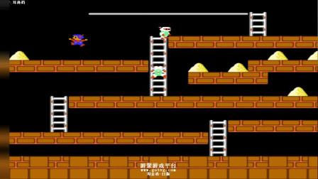 童年必经之路《淘金者》一命速通-游戏天才未必会!不能跳跃是无奈