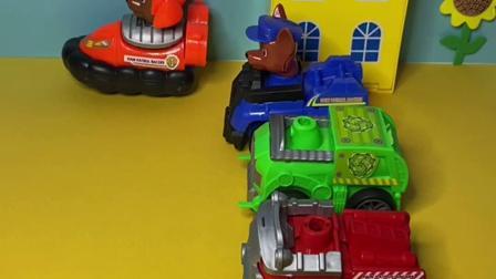趣味玩具:汪汪队成员都找到了自己的车子