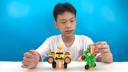 开箱分享益智好玩汪汪队合体变形玩具