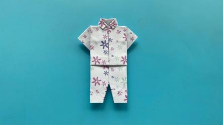 教你折纸一身衣服,简单易学,生动形象