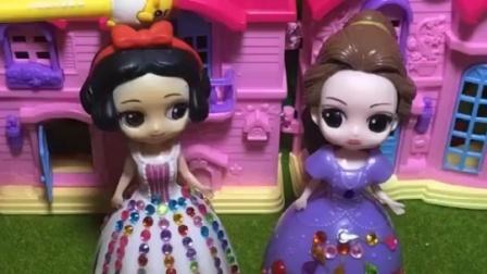 王子给白雪贝儿糖果盒,糖果多就可以嫁给白雪,小朋友帮帮白雪