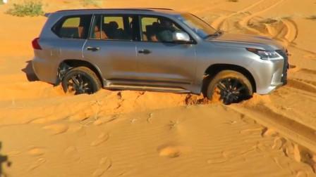 测试: 雷克萨斯沙漠脱困能力, 这还真是骚操作呀