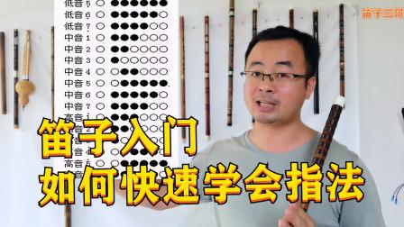 笛子初学入门,如何快速把指法学好?把这个视频学完你就会了
