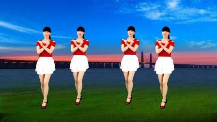 火爆新歌广场舞《一朵情花开》32步动感优美,歌醉人舞步好看