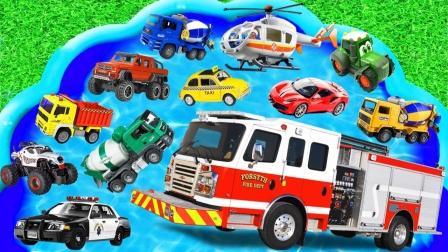 汽车玩具总动员,各种各样的小汽车,你认识吗