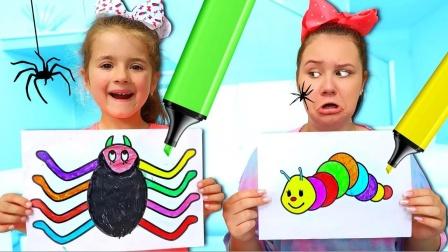小萝莉和姐姐画的画,你最喜欢哪一个呢