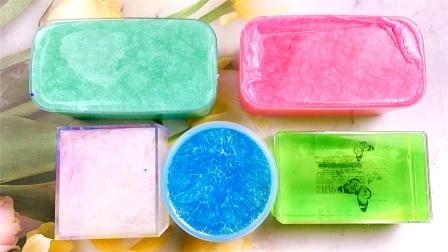 套餐起泡胶大混泥,5盒超美颜值网红泥,最后会变什么样?无硼砂