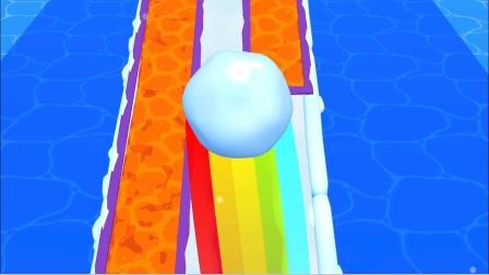 趣味小游戏 一起来滚雪球浇灭岩浆吧
