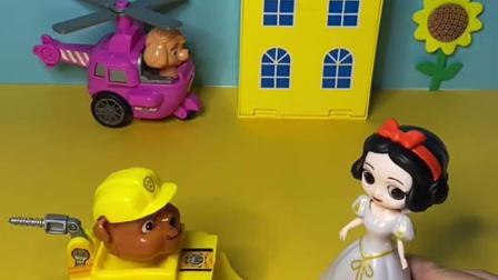 趣味玩具:白雪让汪汪队稍她去学校
