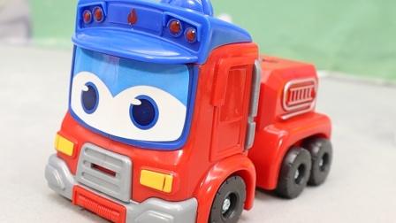 莱德队长家着火了,消防车歌德救援灭火