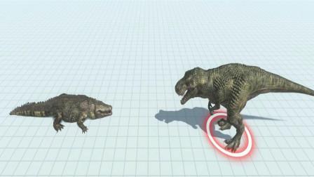 1只巨型鳄鱼与霸王龙展开殊死搏斗,最终谁能获胜?