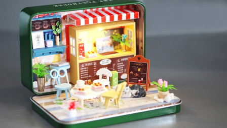 手工制作迷你娃娃屋:这件迷你咖啡屋如何制作呢