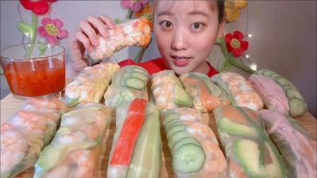 吃货:开吃虾尾卷饼,味道独特,美味极了