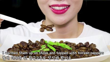 吃货:五香蚕蛹,味道意想不到,超好吃