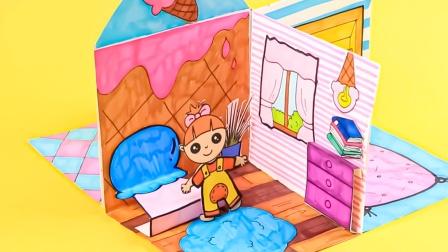 哇!娃娃的房子分成4份,里面都分成了什么区域呢?