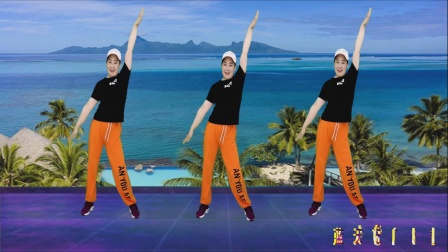 DJ健身舞《烟雨人间》背面带你跳,时尚动感,好看好学