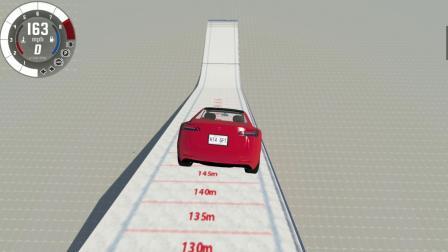 车祸模拟器:飞跃1000米的特斯拉,落地后会变成什么样子?