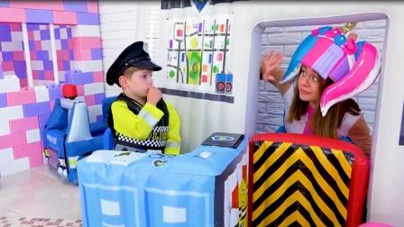 火烈鸟被抱走,萌娃小警察会找到吗