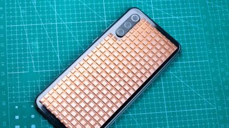 给手机加一个铜散热片 效果还挺好