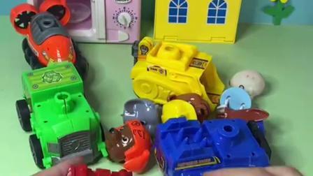 趣味玩具:把汪汪队的车子拼起来
