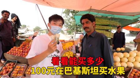 拿100元在巴基斯坦买水果,最后买了这么多,看看这价格算不算贵